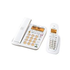 シャープ デジタルコードレス電話機(受話子機+子機1台タイプ) KuaL ホワイト系 JDGE56CL
