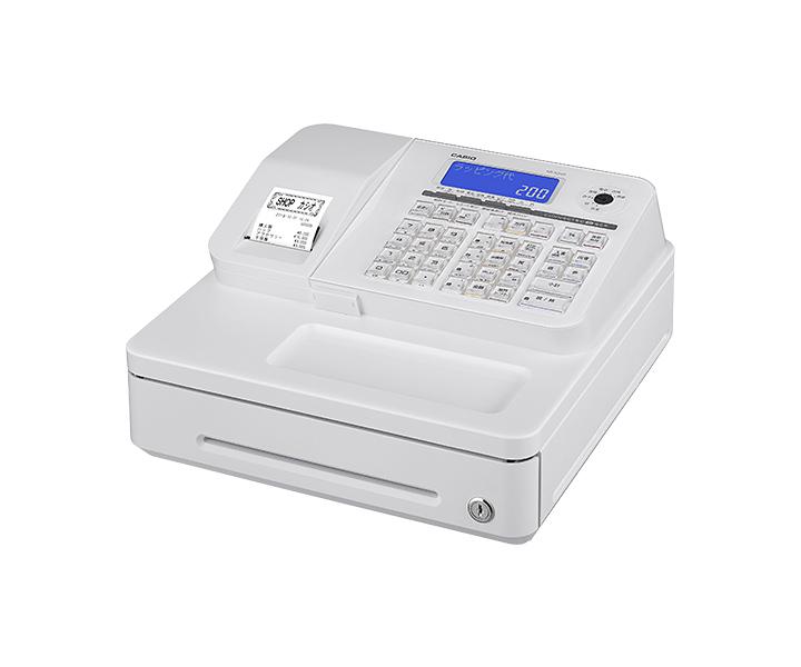 カシオ 電子レジスター SR-S200-WE ホワイト(SRS200WE)スマホと連携して店舗運営を支援。