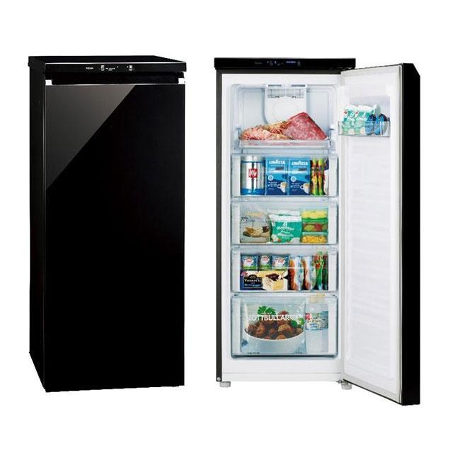 (お取り寄せ)AQUA AQF-GS13G(K) ファン式冷凍庫(134L)「COOL CABINET(クール キャビネット)[AQFGS13GK] ※配送設置:最寄のエディオン商品センターよりお伺い致します。[※サービスエリア外は別途配送手数料が掛かります]