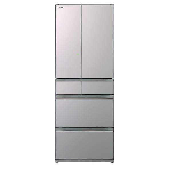(お取り寄せ)日立 R-HW60J XN 602L 6ドアノンフロン冷蔵庫 クリスタルシャンパン [RHW60JXN] ※配送・設置は、最寄のエディオン配送センターよりお伺いいたします。[全国送料無料 ※一部地域を除く]