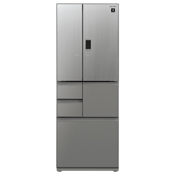 (物流在庫あり)シャープ 502L 6ドアノンフロン冷蔵庫 プラズマクラスター エレガントシルバー SJGX50ES  ※配送・設置は、最寄のエディオン配送センターよりお伺いいたします。[全国送料無料 ※一部地域を除く]