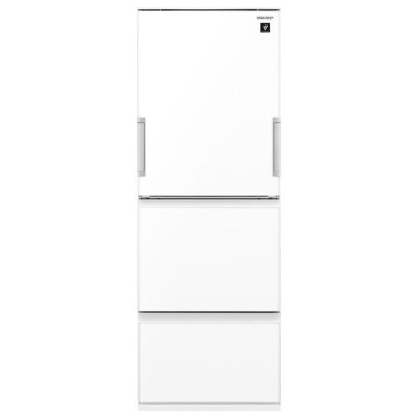 シャープ 356L 3ドアノンフロン冷蔵庫 ピュアホワイト SJGW36EW ※設置は、最寄のエディオン配送センターよりお伺いいたします。[全国送料無料 ※一部地域を除く]