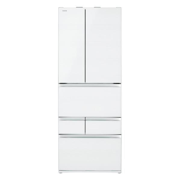 東芝 601L 6ドアノンフロン冷蔵庫 VEGETA クリアグレインホワイト GRR600FZUW ※配送設置:最寄のエディオン商品センターよりお伺い致します。[※サービスエリア外は別途配送手数料が掛かります]