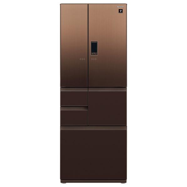 シャープ 551L 6ドアノンフロン冷蔵庫 エレガントブラウン SJGA55ET  ※配送設置:最寄のエディオン商品センターよりお伺い致します。[※サービスエリア外は別途配送手数料が掛かります]