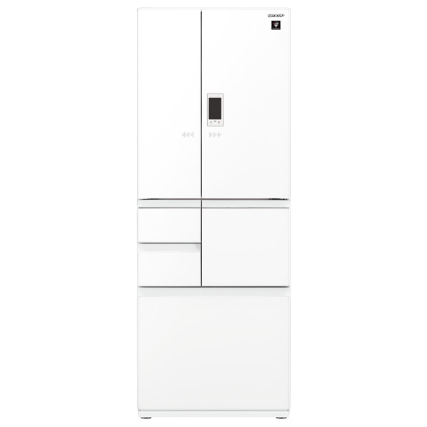 シャープ 551L 6ドアノンフロン冷蔵庫 ピュアホワイト SJGA55EW  ※配送設置:最寄のエディオン商品センターよりお伺い致します。[※サービスエリア外は別途配送手数料が掛かります]