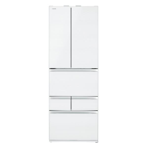 東芝 508L 6ドアノンフロン冷蔵庫 VEGETA クリアグレインホワイト GRR510FZUW  ※配送設置:最寄のエディオン商品センターよりお伺い致します。[※サービスエリア外は別途配送手数料が掛かります]