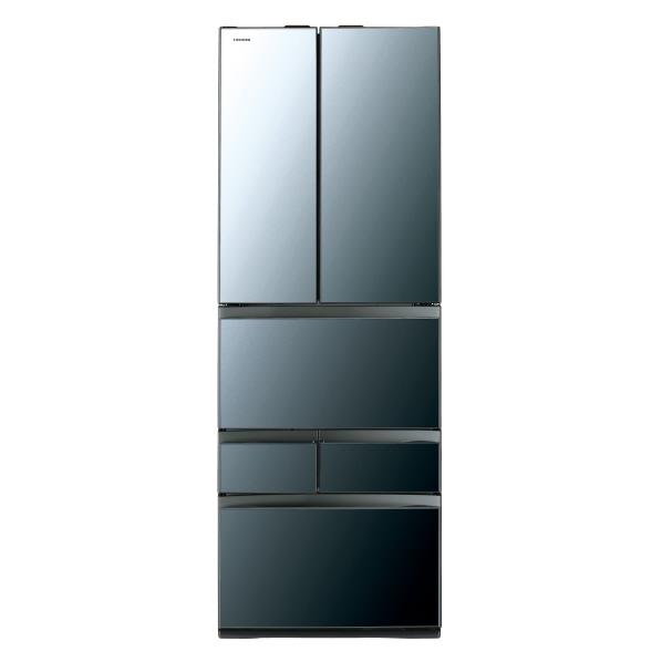 (指定エリア限定:お問い合わせください)東芝 461L 6ドアノンフロン冷蔵庫 VEGETA クリアミラー GRR460FZXK ※配送設置:最寄のエディオン商品センターよりお伺い致します。[※サービスエリア外は別途配送手数料が掛かります]