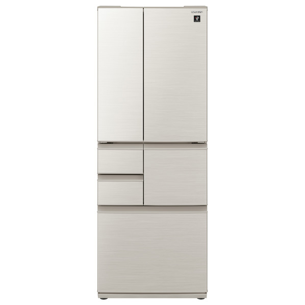 シャープ SJ-F502E-S 502L 6ドアノンフロン冷蔵庫 プラズマクラスター シルバー [SJF502ES]  ※配送設置:最寄のエディオン商品センターよりお伺い致します。[※サービスエリア外は別途配送手数料が掛かります]