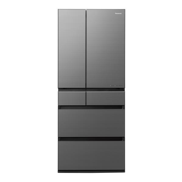 パナソニック NR-F655WPX-H 650L 6ドアノンフロン冷蔵庫 ミスティスチールグレー(フロスト加工) [NRF655WPXH] ※配送設置:最寄のエディオン商品センターよりお伺い致します。[※サービスエリア外は別途配送手数料が掛かります]