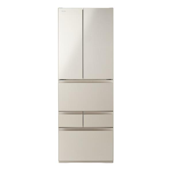 東芝 509L 6ドアノンフロン冷蔵庫 VEGETA サテンゴールド GRR510FHEC  ※配送設置:最寄のエディオン商品センターよりお伺い致します。[※サービスエリア外は別途配送手数料が掛かります]