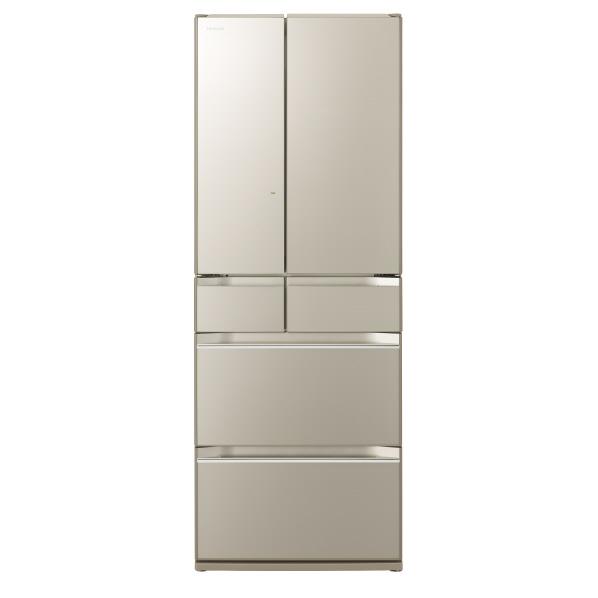 日立 R-KW57K XN 567L 6ドアノンフロン冷蔵庫 ファインシャンパン [RKW57KXN] ※配送設置:最寄のエディオン商品センターよりお伺い致します。[※サービスエリア外は別途配送手数料が掛かります]
