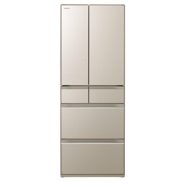 日立 R-HW60K XN 602L 6ドアノンフロン冷蔵庫 プレーンシャンパン RHW60KXN ※配送設置:最寄のエディオン商品センターよりお伺い致します。[※サービスエリア外は別途配送手数料が掛かります]