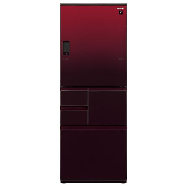 シャープ 502L 5ドアノンフロン冷蔵庫 グラデーションレッド SJWA50ER  ※配送設置:最寄のエディオン商品センターよりお伺い致します。[※サービスエリア外は別途配送手数料が掛かります]