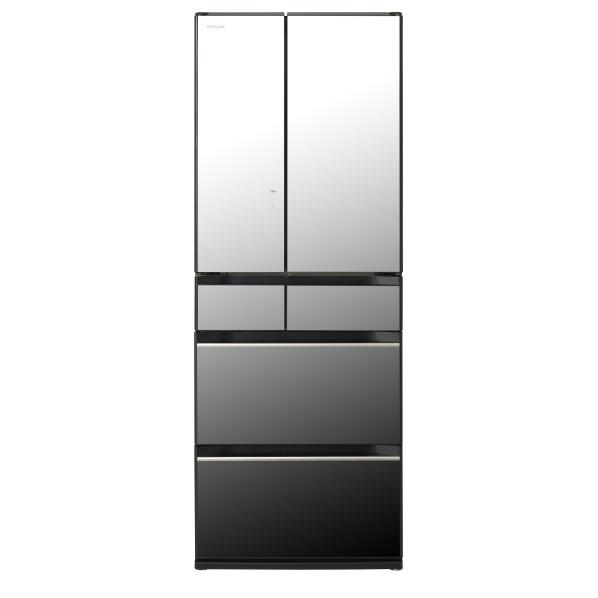 日立 R-KX57K X 567L 6ドアノンフロン冷蔵庫 クリスタルミラー RKX57KX  ※配送設置:最寄のエディオン商品センターよりお伺い致します。[※サービスエリア外は別途配送手数料が掛かります]