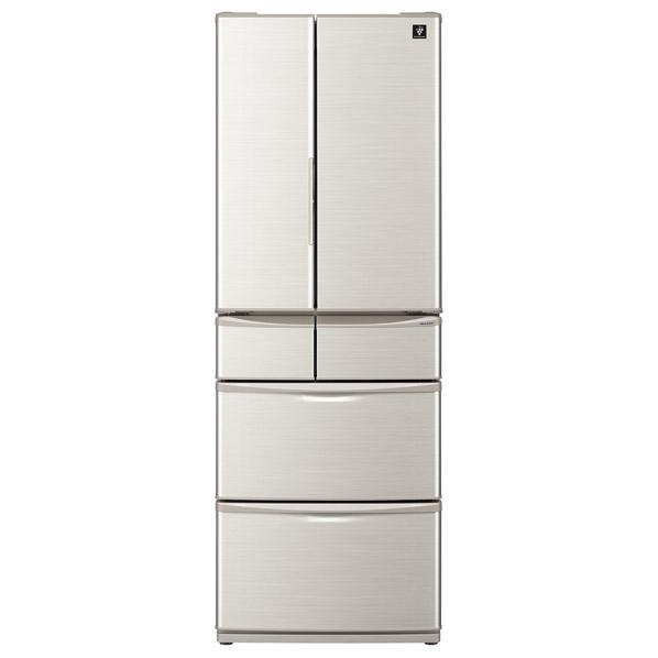 シャープ SJ-F462E-S 455L 6ドアノンフロン冷蔵庫 プラズマクラスター シルバー系 [SJF462ES] ※配送設置:最寄のエディオン商品センターよりお伺い致します。[※サービスエリア外は別途配送手数料が掛かります](搬入不可等によるキャンセルは出来ません)