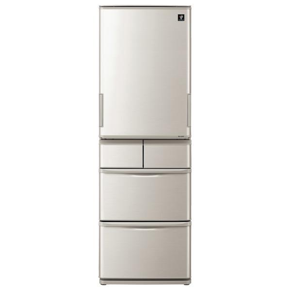 シャープ 412L 5ドアノンフロン冷蔵庫 プラズマクラスター冷蔵庫 シルバー SJW412ES ※配送設置:最寄のエディオン商品センターよりお伺い致します。[※サービスエリア外は別途配送手数料が掛かります]