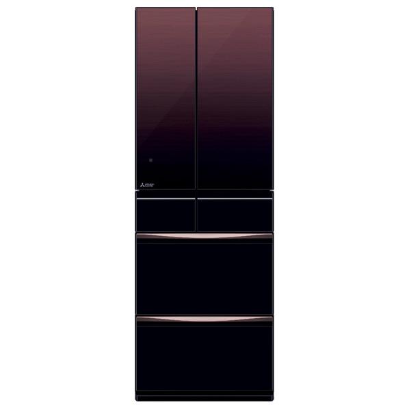 三菱 MR-MX46E-ZT 455L 6ドアノンフロン冷蔵庫 グラデーションブラウン [MRMX46EZT] ※配送設置:最寄のエディオン商品センターよりお伺い致します。[※サービスエリア外は別途配送手数料が掛かります]