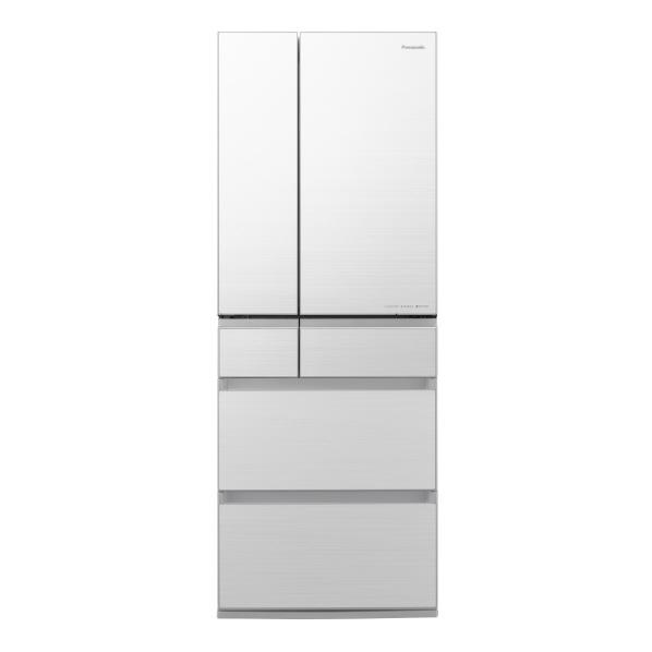 パナソニック NR-F605WPX-W 600L 6ドアノンフロン冷蔵庫 フロスティロイヤルホワイト(フロスト加工) [NRF605WPXW] ※配送設置:最寄のエディオン商品センターよりお伺い致します。[※サービスエリア外は別途配送手数料が掛かります]