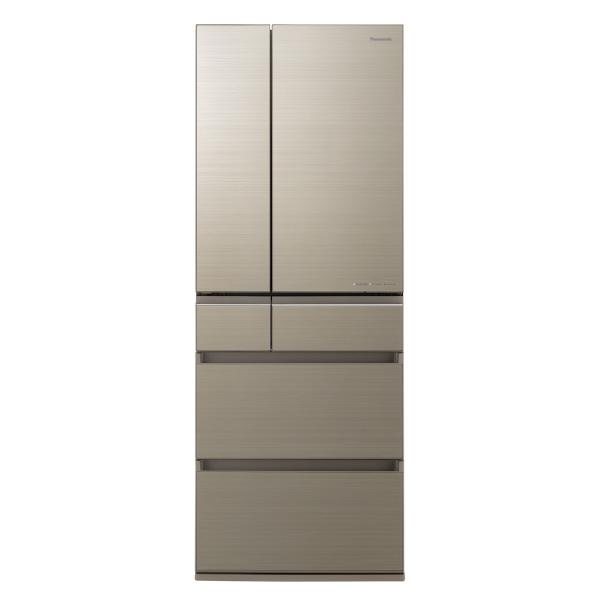 パナソニック NR-F605HPX-N 600L 6ドアノンフロン冷蔵庫 アルベロゴールド [NRF605HPXN] ※配送設置:最寄のエディオン商品センターよりお伺い致します。[※サービスエリア外は別途配送手数料が掛かります](搬入不可等によるキャンセルは出来ません)