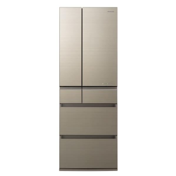 (納期目安:2~3週間)パナソニック NR-F505HPX-N 500L 6ドアノンフロン冷蔵庫 アルベロゴールド [NRF505HPXN]  ※配送設置:最寄のエディオン商品センターよりお伺い致します。[※サービスエリア外は別途配送手数料が掛かります]