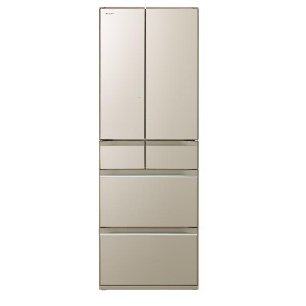 日立 R-HW52K XN 520L 6ドアノンフロン冷蔵庫 プレーンシャンパン [RHW52KXN] ※配送設置:最寄のエディオン商品センターよりお伺い致します。[※サービスエリア外は別途配送手数料が掛かります](搬入不可等によるキャンセルは出来ません)