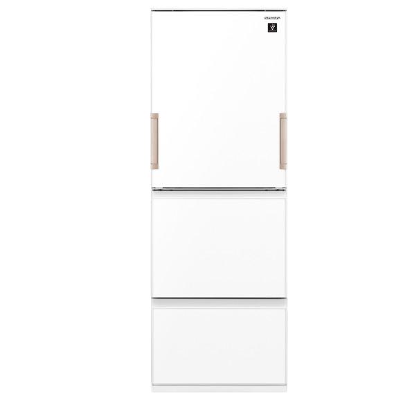シャープ 350L 3ドアノンフロン冷蔵庫 どっちもドア ピュアホワイト SJGE35FW ※エリア内配達設置無料 ※設置は、最寄のエディオン配送センターよりお伺いいたします。(搬入不可等によるキャンセルは出来ません)