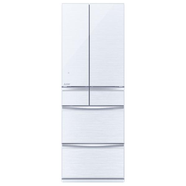 三菱 MR-MX46F-W 455L 6ドアノンフロン冷蔵庫 置けるスマート大容量 クリスタルホワイト [MRMX46FW] ※配送設置:最寄のエディオン商品センターよりお伺い致します。[※サービスエリア外は別途配送手数料が掛かります]