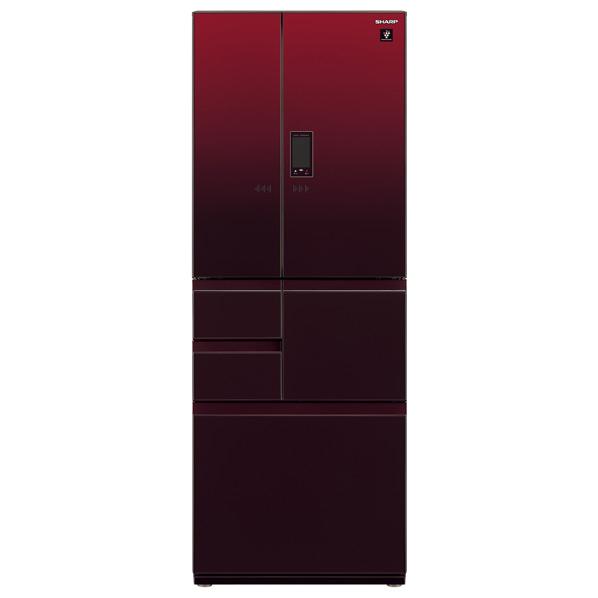 シャープ 502L 6ドアノンフロン冷蔵庫 プラズマクラスター グラデーションレッド SJAF50FR ※配送設置:最寄のエディオン商品センターよりお伺い致します。[※サービスエリア外は別途配送手数料が掛かります](搬入不可等によるキャンセルは出来ません)