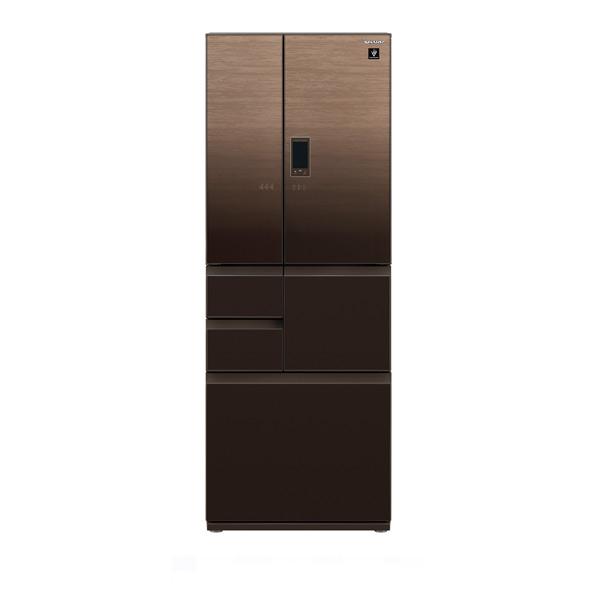 シャープ 502L 6ドアノンフロン冷蔵庫 プラズマクラスター グラデーションウッドブラウン SJAF50FT ※配送設置:最寄のエディオン商品センターよりお伺い致します。[※サービスエリア外は別途配送手数料が掛かります](搬入不可等によるキャンセルは出来ません)