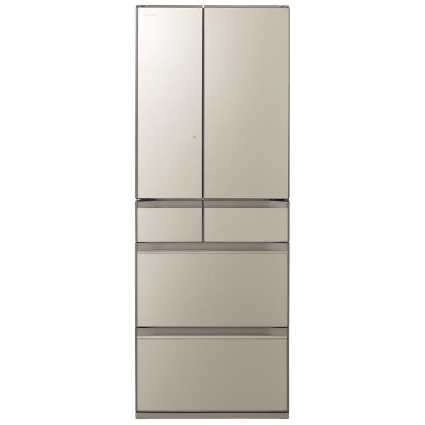 日立 602L R-HX60NXN 6ドアノンフロン冷蔵庫 ファインシャンパン [RHX60NXN] ※配送設置:最寄のエディオン商品センターよりお伺い致します。
