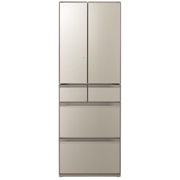 日立 R-HX52NXN 520L 6ドアノンフロン冷蔵庫 ファインシャンパン [RHX52NXN] ※配送設置:最寄のエディオン商品センターよりお伺い致します。[※サービスエリア外は別途配送手数料が掛かります]