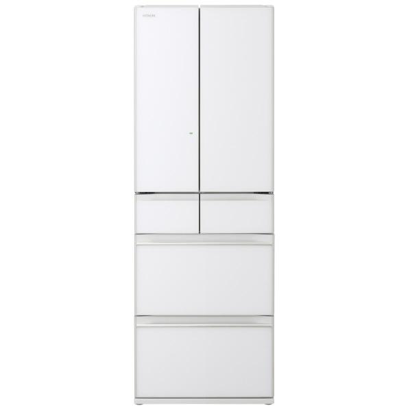 (納期目安:1週間~)日立 R-HW52NXW 520L 6ドアノンフロン冷蔵庫 クリスタルホワイト [RHW52NXW] ※配送設置:最寄のエディオン商品センターよりお伺い致します。[※サービスエリア外は別途配送手数料が掛かります]