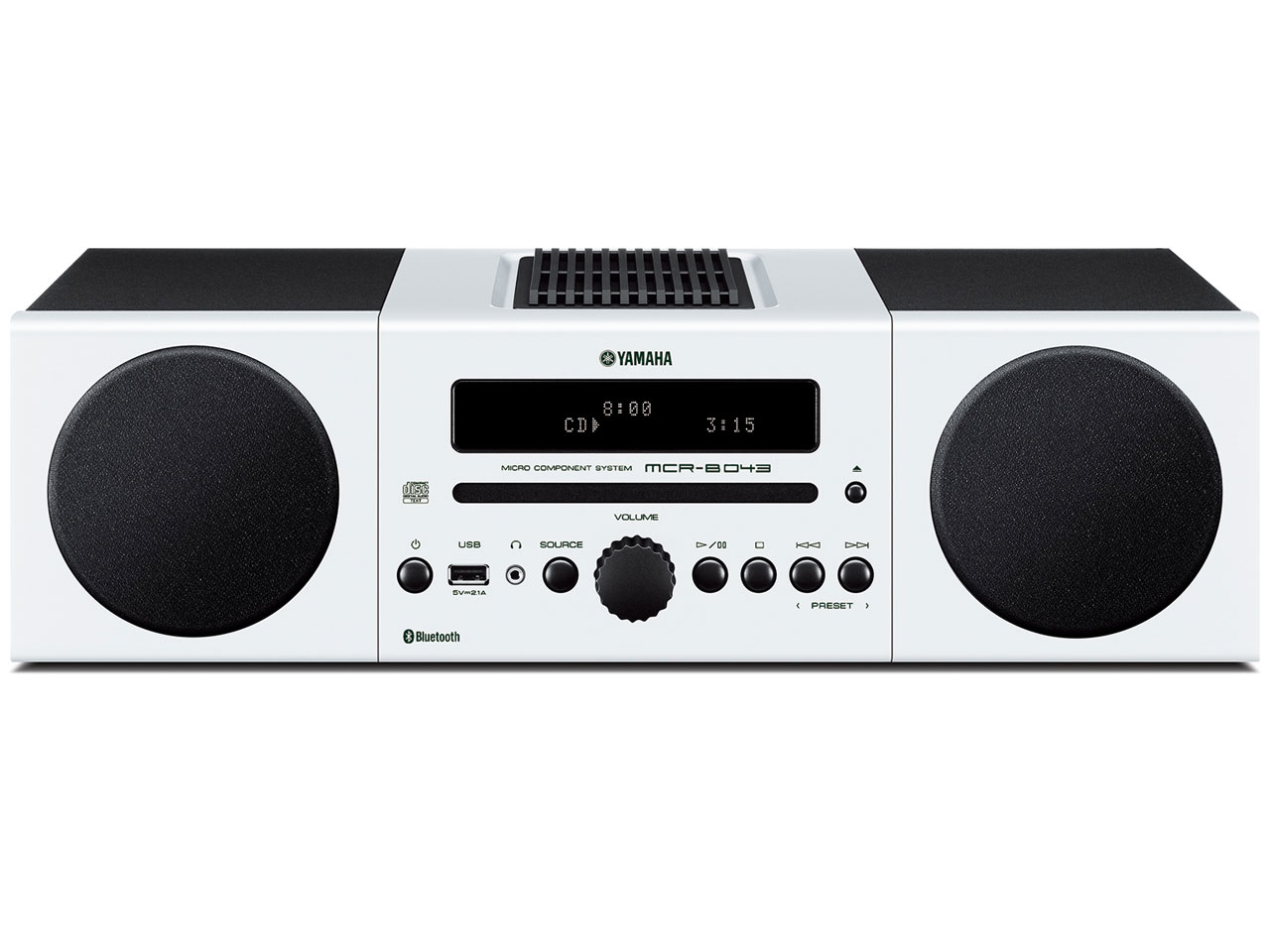 (お取り寄せ)ヤマハ(YAMAHA)Bluetooth対応マイクロコンポーネントシステム MCR-B043(W)ホワイト(長期安心保証対象商品)