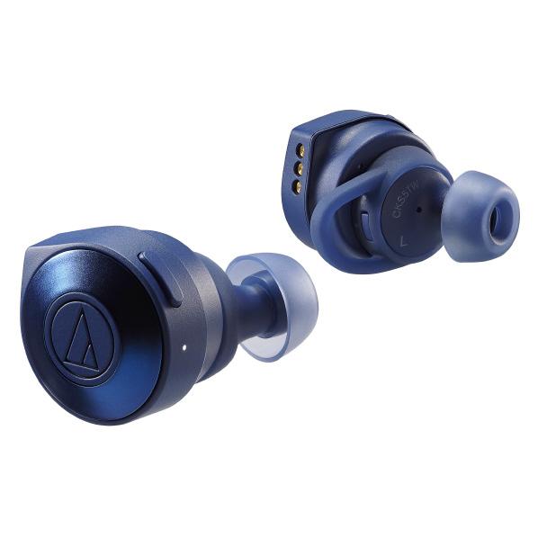 オーディオテクニカ ATH-CKS5TW BL ワイヤレスヘッドフォン SOLIDBASS シリーズ ブルー [ATHCKS5TWBL]