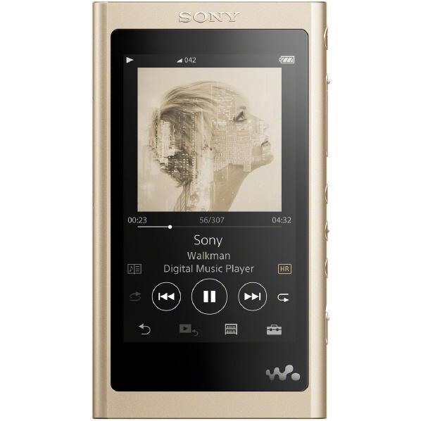 (納期目安4週間~)SONY NW-A55HN N デジタルオーディオプレイヤー(16GB) ウォークマン Aシリーズ ペールゴールド [NWA55HNN]