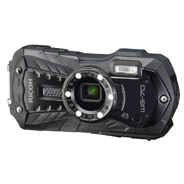 リコー WG-70OBK デジタルカメラ WGシリーズ ブラック [WG70BK]