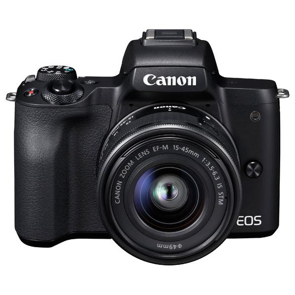 キヤノン デジタル一眼カメラ・EF-M15-45 IS STMレンズキット EOS Kiss M ブラック KISSMBK1545ISSTMLK