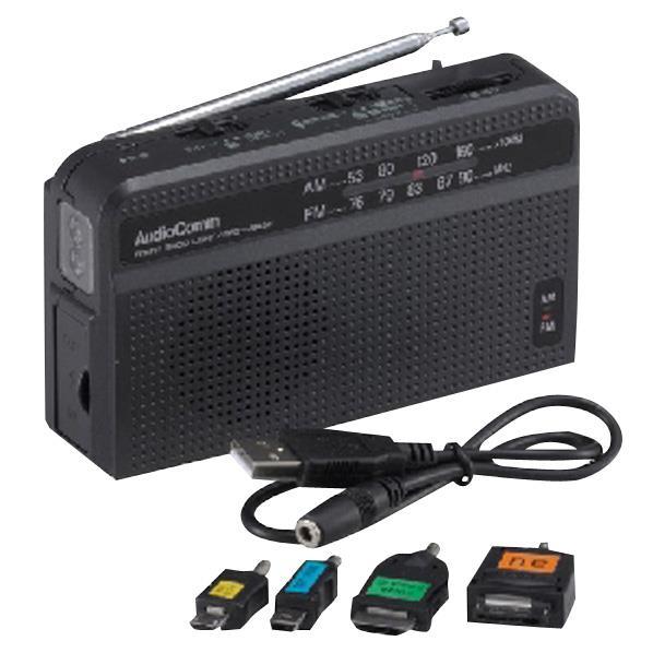 (在庫限り:処分特価)オーム電機 スマートフォン対応手回しラジオライト RAD-V945N(10台セット)