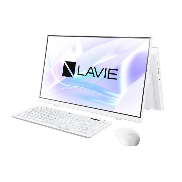 NEC 一体型デスクトップパソコン KuaL LAVIE Home All-in-one ファインホワイト PCHA370RAWE3
