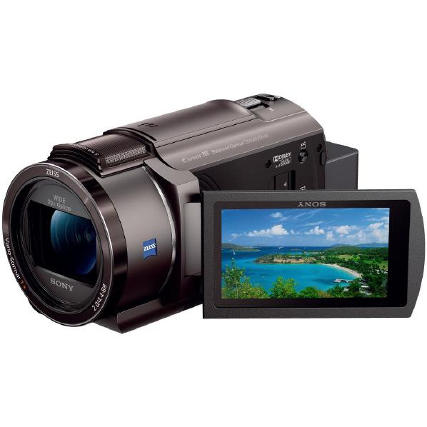 「空間光学手ブレ補正」と「4K高画質センサー」でブレずにキレイ!撮った後も楽しめる4Kハンディカム高性能モデル。 SONY FDR-AX45 TI 64GB内蔵メモリー デジタル4Kビデオカメラ ハンディカム ブロンズブラウン [FDRAX45TI]