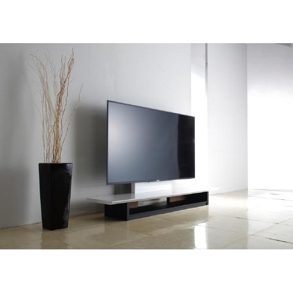 朝日木材 AS-WF1500 ~65V型まで対応 テレビ台 KuaL ホワイトハイグロス [ASWF1500] ※配送方法:大型品