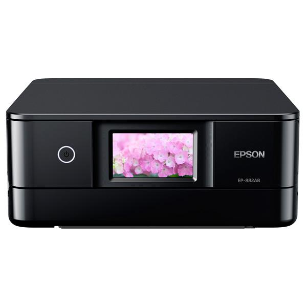(キャッシュバックキャンペーン開催中)エプソン EP-882AB インクジェット複合機 colorio ブラック [EP882AB]
