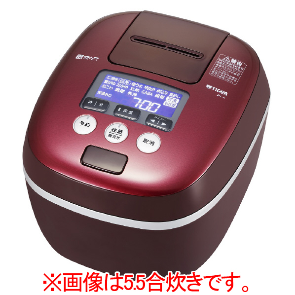 (お取り寄せ)タイガー JPC-A182-RD 圧力IH炊飯ジャー(1升炊き) 炊きたて ボルドー [JPCA182RD]