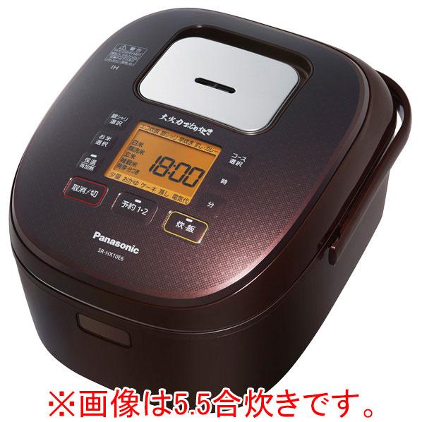 パナソニック SR-HX18E6-T IH炊飯ジャー(1升炊き) KuaL 大火力おどり炊き ブラウン [SRHX18E6T]