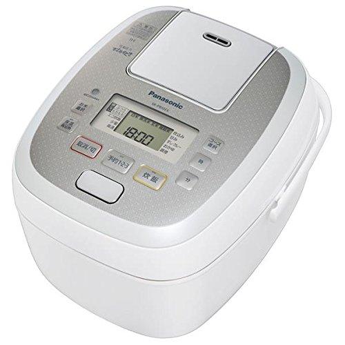 (お取り寄せ)パナソニック 可変圧力IH炊飯ジャー(5.5合炊き) KuaL 可変圧力おどり炊き ホワイト SR-PB10E6-W