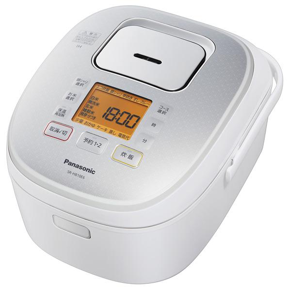 パナソニック SR-HB10E6-W IH炊飯ジャー(5.5合炊き) KuaL ホワイト [SRHB10E6W]