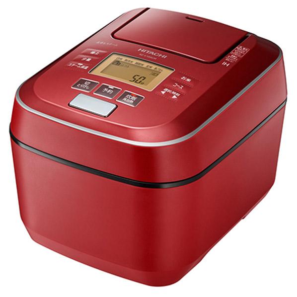 日立 RZ-V100CMR 圧力IH炊飯ジャー(5.5合炊き) ふっくら御膳 メタリックレッド RZV100CMR