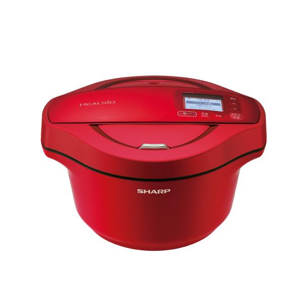 (8/22発売予定)シャープ 水なし自動調理鍋 ヘルシオホットクック レッド KNHW24ER