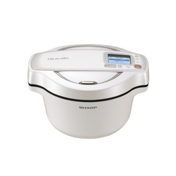 シャープ 水なし自動調理鍋 ヘルシオ ホットクック ホワイト KNHW16EW