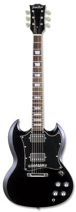 Grass Roots G-SG-55L BK グラスルーツ エレキギター SGタイプ GSG55L